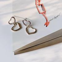 double heart  pierce