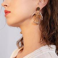 clear × metal gold flower pierce