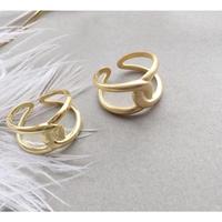 silver925gold torsionring