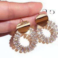 metal gold hoop pierce