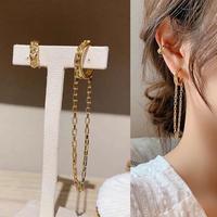 gold chain ear cuffs 2set