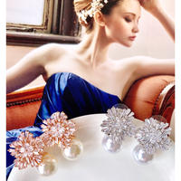 big crystal pearl pierce