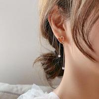 heart pinkgold chain pierce