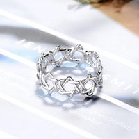 silver925 star open ring