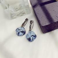 square  blue stone  pierce