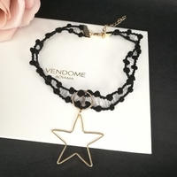 star see-through choker