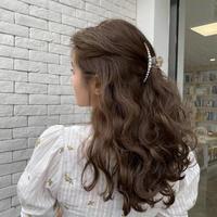 clear pearl hair clip 2