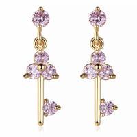 pink  stone key  pierce