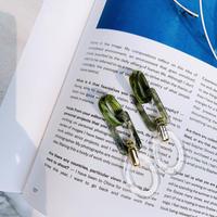 marble green loop  pierce