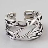 silver925 chain obliqueness ring