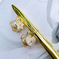 star × heart pearl catch  pierce