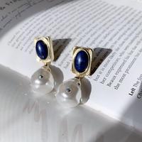 vintage stone pearl pierce