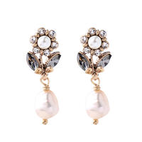 flower baroque pearl pierce