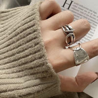 silver925 cross ring