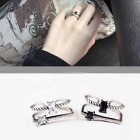 silver925 stone  square ring