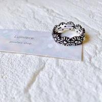 silver925 flower ring