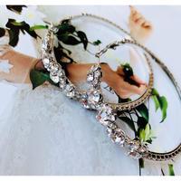 flower stone hoop pierce