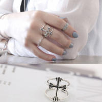 silver925  cross ring