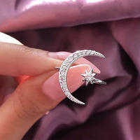 moon × stone ring