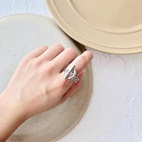 chain loop silver ring