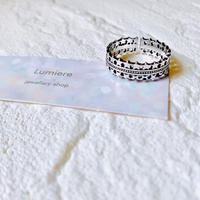 silver925  double star ring