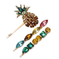 pineapple bijou hairpin 3set