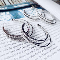 stone 3hoop pierce