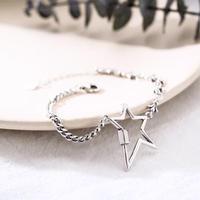 star asymmetry chain bracelet
