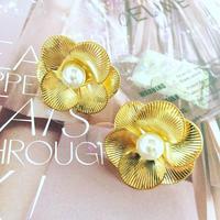 metal flower  earring