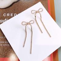 ribbon pearl long pierce