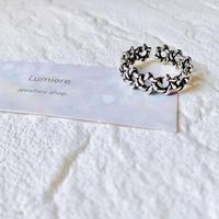 silver925 jagged star ring