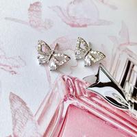 shiny cubic butterfly  pierce