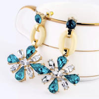 blue flower bijou pierce