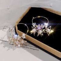 star stone hoop pierce