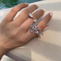 double flower open ring