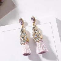 pink tassel pierce