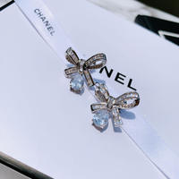 ribbon × drop stone pierce