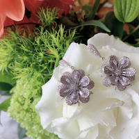 flower shine stone pierce