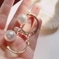 hoop pearl catch pierce