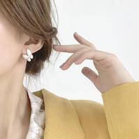 butterfly clear stone  pierce/earring
