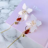 flower chain long  pierce