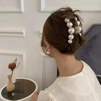 clear pearl hair clip 1