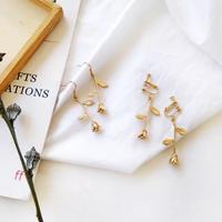 rose metal pierce/earring