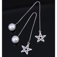 star chain long pearl catch pierce