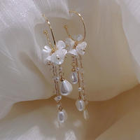 flower hoop long pierce