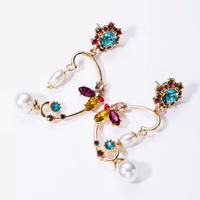 colorful stone butterfly pierce