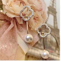 flower stick pearl  pierce