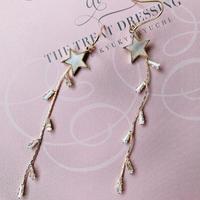 white star stone long pierce