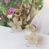 clear flower  hoop pierce