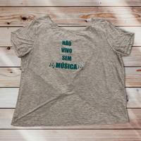 036 Não vivo sem música:レディースTシャツ・XS~Sサイズ